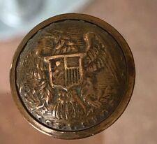 Antique 1800's Civil War Brass Military Eagle Uniform Button Stars- Excelsior