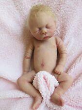 FULL Body SOLID ECOFLEX SILICONE Baby GIRL Doll  -  FAITH  - Micro PREEMIE
