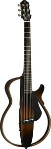 YAMAHA Silent Acoustic Guitar Steel Strings Brown SLG200S TBS From Japan New