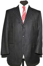 AQUASCUTUM NAVY PINSTRIPE LIGHTWEIGHT SUIT SIZE 42 REGULAR 34 WAIST
