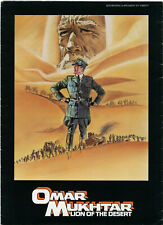 Original • LION OF THE DESERT • 1980 • Anthony Quinn • Uncut • Complete • 4-pgs