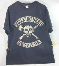 The Walking Dead Survivor T Shirt Black L Skull Graphic T-Shirt TV Show Zombies
