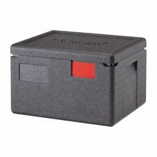 More details for cambro food pan carrier in black polypropylene with integrated handles - 16.9 l