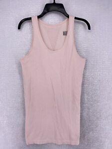 Athleta Milkshake Pink Women's Athletic Pura Rib Tank Top Women's Size XL