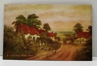 Picturesque Cottage Home 1909 Keota Iowa to West Chester Iowa Postcard F15