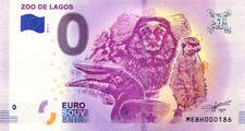 PORTUGAL Lagos, Zoo, N° de la 2ème liasse, 2018, Billet 0 € Souvenir