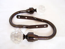 Polished Black Nickel cristallo taglio PALLA DI VETRO PER TENDE FERMATENDE Hold Schienali X 2