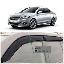 Wide Window Visors Side Rain Guard Vent Deflectors For Peugeot 301 Sd 2012-2018