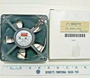 """Dayton 6KD70 Axial Fan 4 3/4"""" x 4 3/4 x 1 1/2"""" Inch 12VDC 1.57W 108 CFM"""