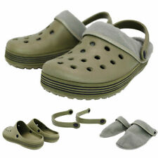 Garden SHOES Clogs Wipe Clean Phylon Removeable Soft Warm Lining KHAKI UK6.5-7