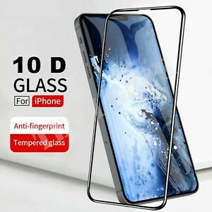 Tempered Glass 10D Full SCREEN PROTECTOR For iPhone 13 12 11 PRO MAX Mini XR XS