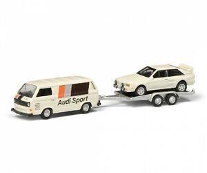 Schuco 452651000 VW T3c AUDI SPORT m.Anh. 1:87 #NEU in OVP#
