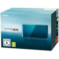 Nintendo 3DS - Konsole #Aqua Blue / blau + Stromkabel mit OVP OVP beschädigt