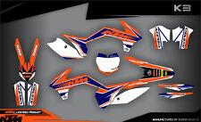 SCRUB KTM SX SXf 125 150 250 350 450 2013 2015 '13-'15 Grafik Dekor-Set