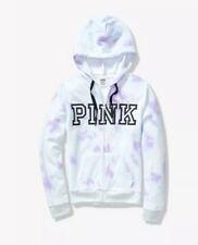Victoria's Secret Pink Perfect Full Zip Hoodie Blue Tie Dye medium