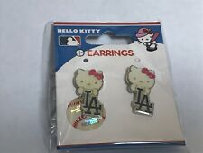 The Los Angeles Dodgers Baseball Hello Kitty Earrings Brand New In Package!