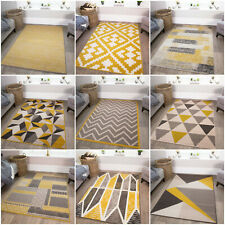 New Yellow Grey Silver Small Large Big Huge Size Floor Geo Carpet Rug Mat Cheap