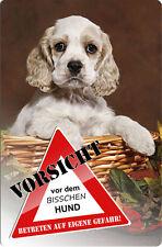 COCKER Spaniel - A4 Metall Warnschild Hundeschild SCHILD Türschild - CKS 09 T3