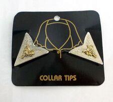 Western Country Collar Tips Kragenecken  Kragenspiegel Silber/Gold Sattel