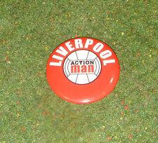 Vintage Action Man 40th deportista Club Fútbol Insignia De Liverpool