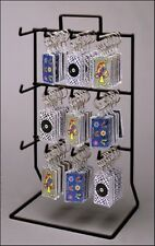 Counter Key Chain & Small Item Display Rack - 3 Tier 12 Peg (Choice of Color)