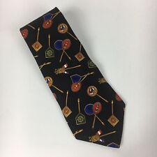 Vintage Tommy Hilfiger Mens Necktie Made in USA Silk Crest Flags Nautical