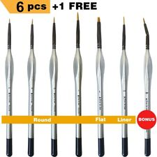 Miniature Paint Brushes 6pcs + 1 Free Detail Paint Brush Set - Model Paint Brush