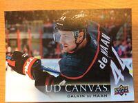 UPPER DECK 2018-2019 SERIES TWO CALVIN DE HAAN CANVAS HOCKEY CARD C-136