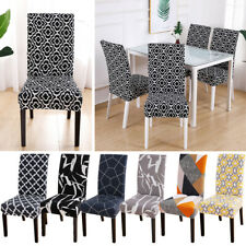 Dining Chair Covers Washable Stretch Seat Slipcovers Home Partty Pretty Decor~