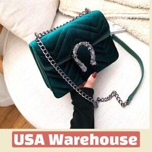 Luxury Velour Handbag Cross body Designer Inspired - High Quality