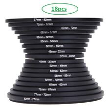 Step up+Step down 18pcs Lens Filter Rings set 37mm-82mm + 82mm-37mm as lens hood
