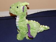 "11"" Princess Soft Toys Green & Purple Plush Dragon Poseable Wings 2008"