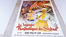 LE VOYAGE FANTASTIQUE DE SINBAD   ! affiche cinema  1973