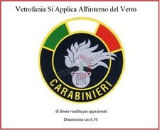 Vetrofania Adesivo da Parabrezza Auto Con Logo Carabinieri CC Libera Vendita
