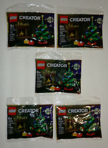 Lot of (5) NEW Lego CREATOR 30576 HOLIDAY TREE polybags