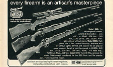 1971 Print Ad of Mauser Bauer Corp Model 660 4000 & 3000 Rifle Original Mauser