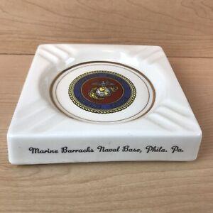 "United States Marine Corps Ceramic Ashtray 5-1/2"" Square Philadelphia PA"