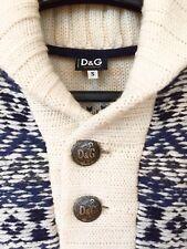 DOLCE & GABBANA Strickpullover D&G Pullover Pulli mit GROSSEM LOGO NP 643€, Gr S