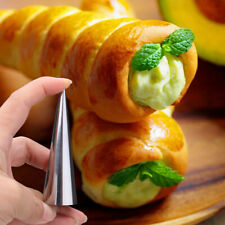 6 Pcs Stainless Steel Cone Pastry Cream Baking Horn Roll Mold Baking Non-Stick