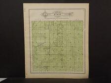 Wisconsin Fond Du Lac Couny Map Byron Township 1910 J11#39