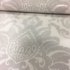 Damask Wallpaper Silver Glitter Glisten Embossed Luxury Modern Weight Arthouse