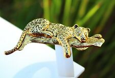 BROOCH      leopard, wild cat, gold-tone metal  ,,,, ,,
