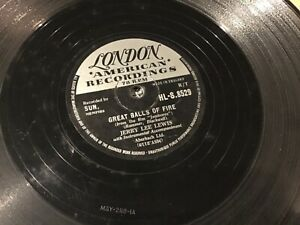 JERRY LEE LEWIS GREAT BALLS OF FIRE RECORD 78 rpm