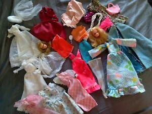 Vintage Mod Superstar 80's Barbie PJ Francie Head TLC Junk CLOTHES LOT NR