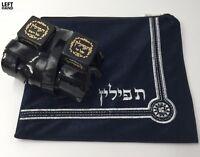 TOP QUALITY   TEFILLIN -LEFT HANDED Sephardic Jewish Kosher  Sefaradi + Bag Gift