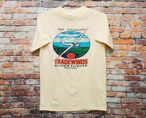 Vtg 80s Tradewinds Glider Flights Hawaii T Shirt MEDIUM Hawaiian Islands Travel