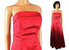 Strapless Prom Dress Jrs 9/10 Red Satin Long Full Length Urban Girl Nites