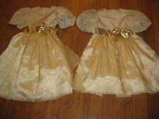 Gold Matching Sister Dresses 8 12 Flower Girl Formal Wedding Junior BridesMaids