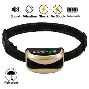 Dog Waterproof Rechargeable Anti Bark Collar Adjustable 0-7 Sensitivity Levels