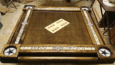 Domino Tables by Art w/Dallas Cowboys Cubholders & Real Woodcraft Domino Inlay
